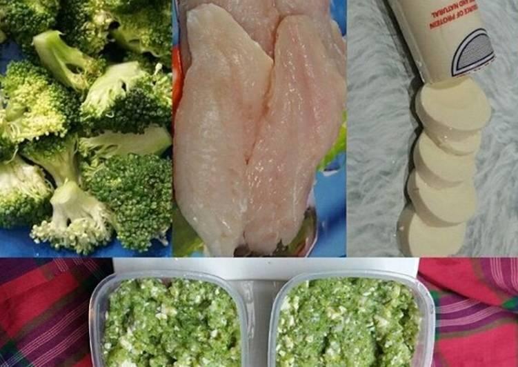 Ikan Kakap Merah + Tofu + Brokoli MPASI