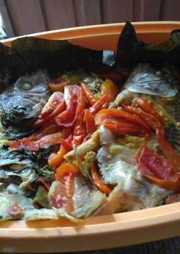 Ikan nila pepes presto