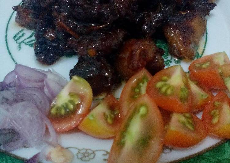 Resep Sate goreng kambing #kitaberbagi Kiriman dari Agnes Primadhani