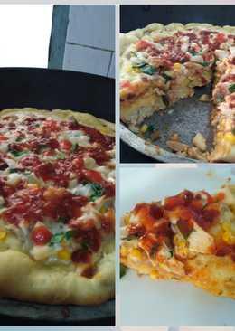 Pizza Empuk (topping bakso, jamur, & jagung)