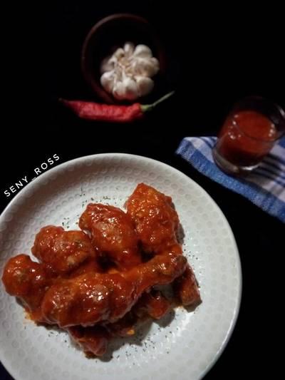 Spicy Fire Chicken ala recheese (ayam saos pedas)