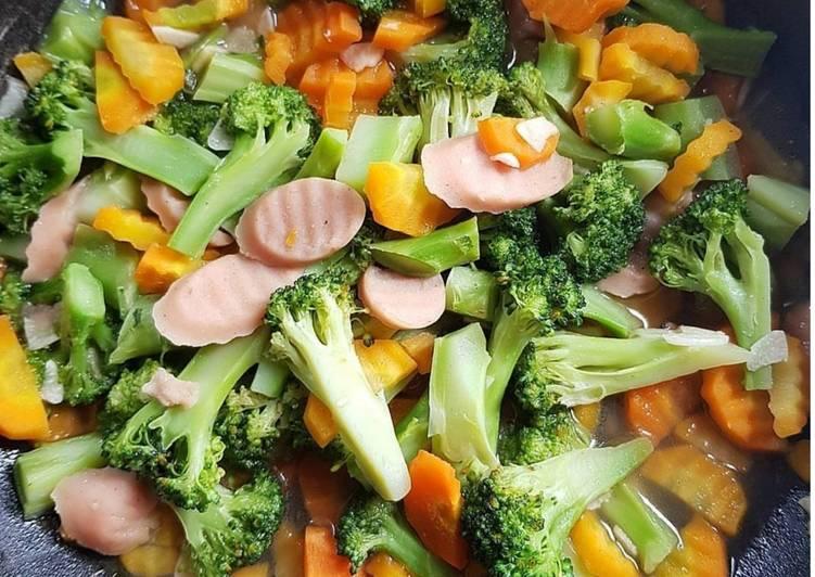 Cah Brokoli, Wortel, Sosis