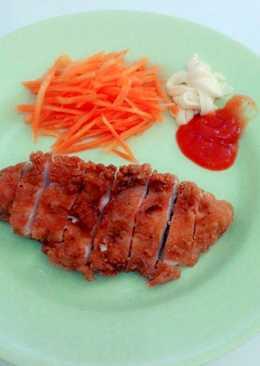 Chicken katsu masak simple