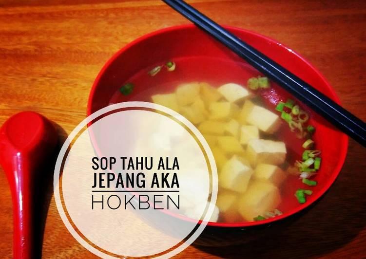 Soup tahu simple ala resto japan