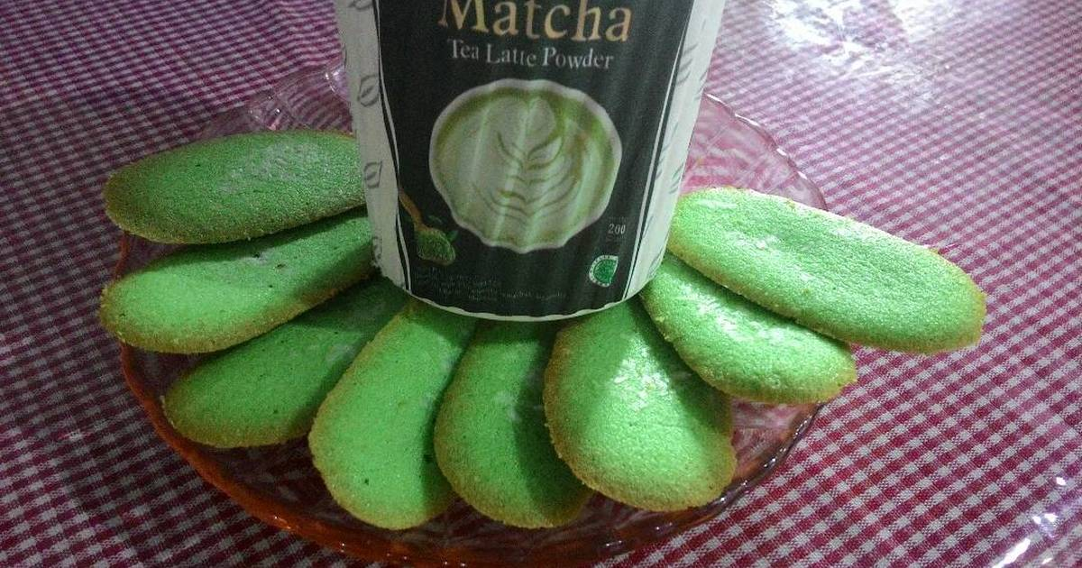 Resep Lidah Kucing Greentea *anti gagal [lagi!] ✌