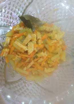 Sayur labu wortel bumbu kuning