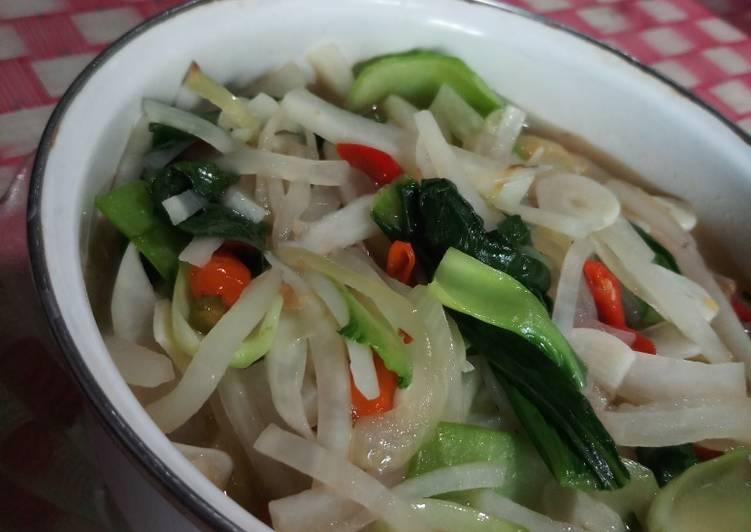 Tumis pakcoy & lobak (menu simple puasa)