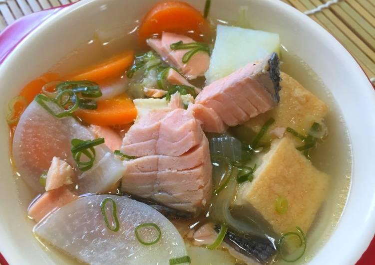 Resep Sanpeijiru 三平汁 Sop Ikan Salmon Oleh M Reza Faisal Cookpad