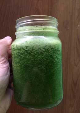 Healthy tasty green juice