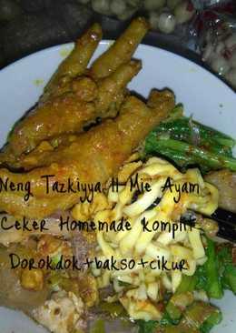 Mie Ayam Homemade extra plus Bakso+Ceker+Dorokdok+Cikur