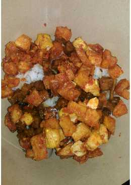 Nasi uduk rames lauk (rice cooker)