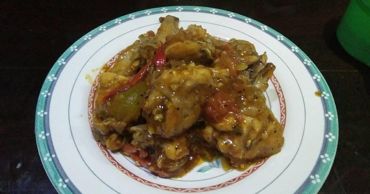 Resep Ayam Geprek Lada Hitam