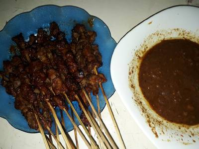 Sate kambing bumka (bumbu kacang) #FestivalResepAsia#Indonesia