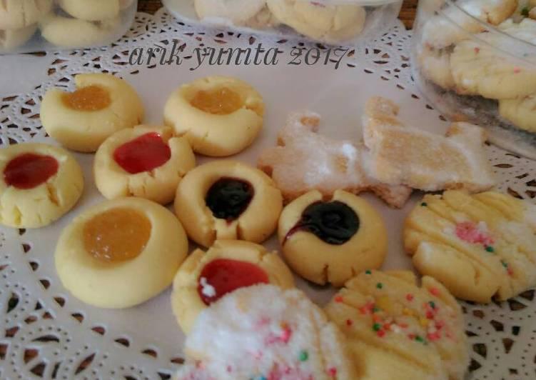 Resep Cookies lumer ???? (adonan bisa u/ Putri salju, nastar, kastangel) Dari Arik Yunita (Paon RaRe)