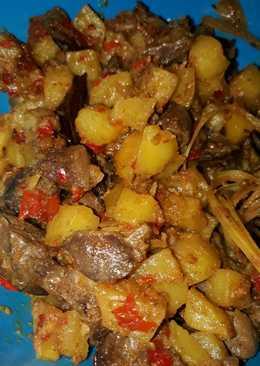 Sambal goreng kentang ati ampela