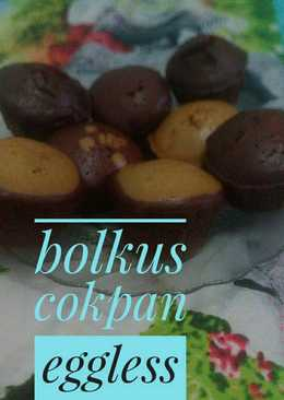 Bolu kukus coklat pandan eggless #beranibaking