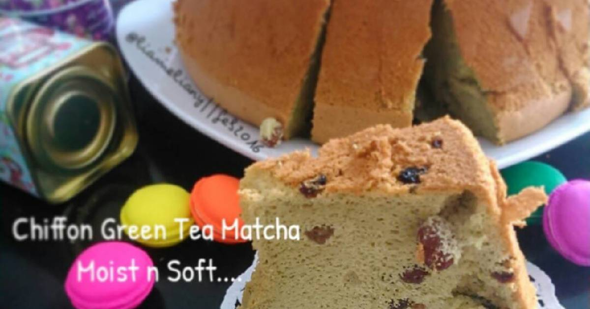 Resep Chiffon Green Tea Matcha Soft & Moist...
