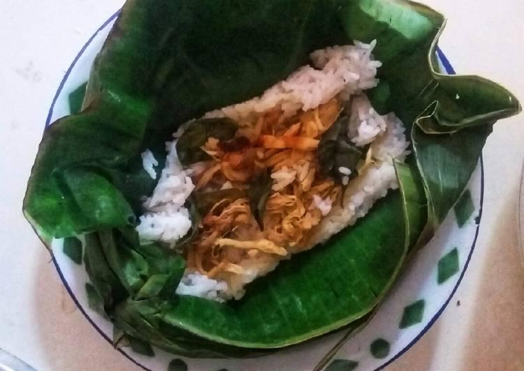 Nasi (Liwet) Bakar Isi Ayam Suir Kemangi #SelasaBisa