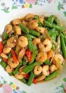 Kacang panjang tumis udang