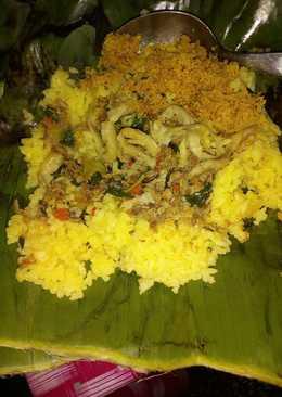Nasi kuning bakar