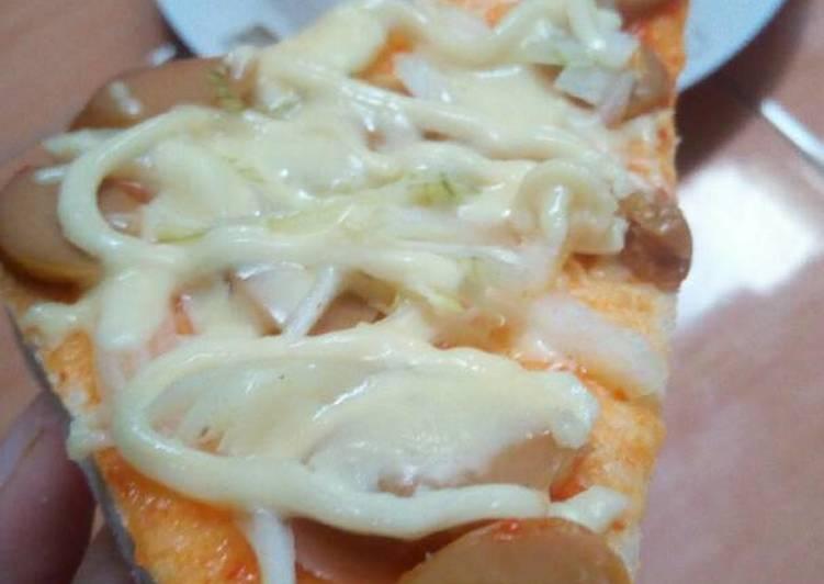 Resep Pizza Roti Tawar Teflon Kiriman dari Anisa Alya Rahmawati
