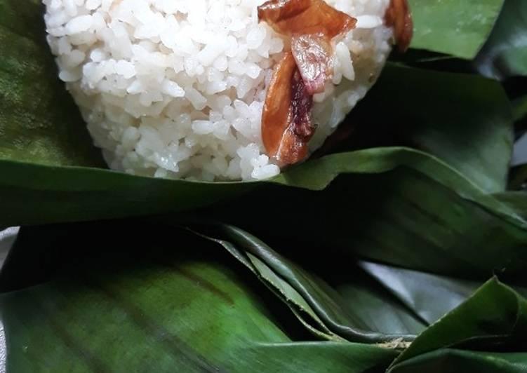 Nasi uduk bungkus daun pisang😙#Bikinramadhanberkesan
