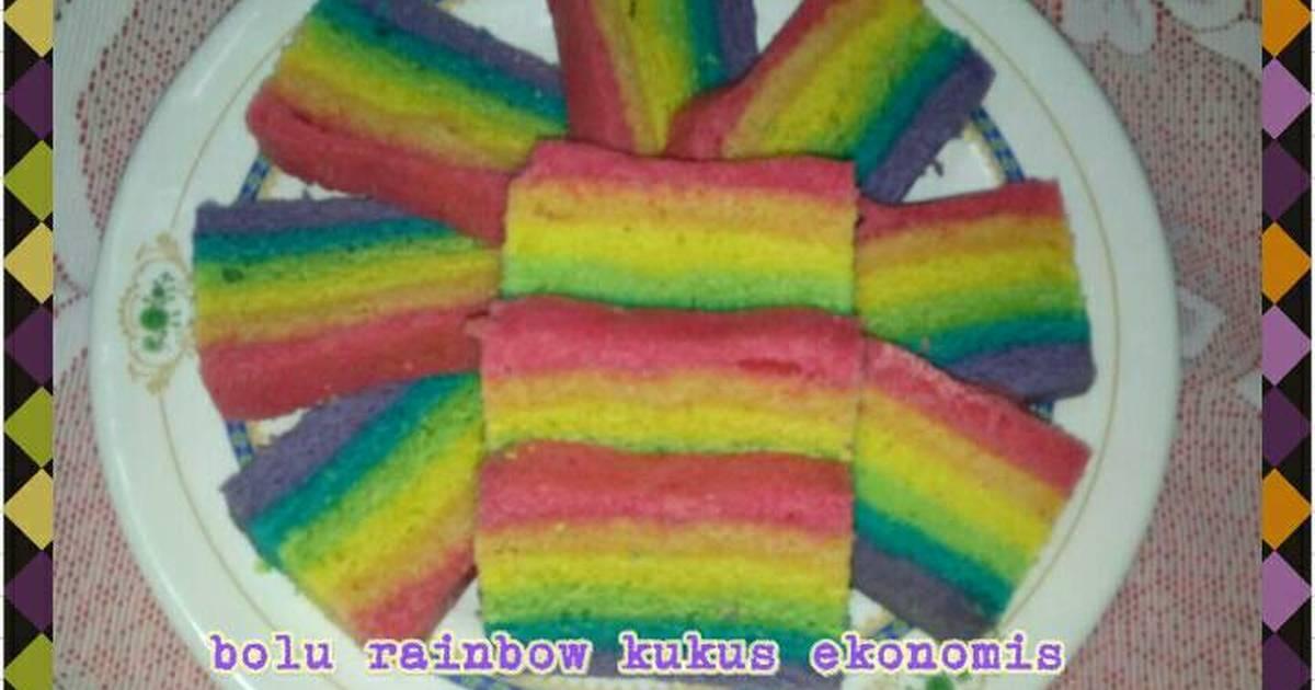 Resep Bolu Rainbow Kukus Ekonomis