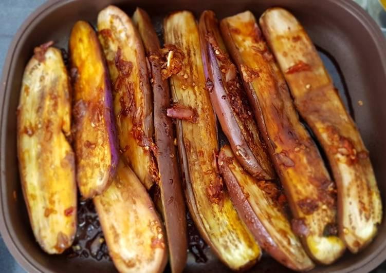 Terong bakar sambal kecap
