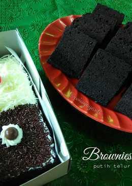 Brownies Kukus Putih Telur