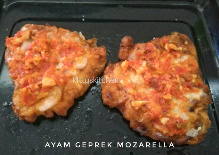 Resep Ayam Geprek Mozarella - K1ttyskitchen by Ita