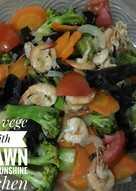 Tumis brokoli jamur udang aka capcay aka mix vege with prawan
