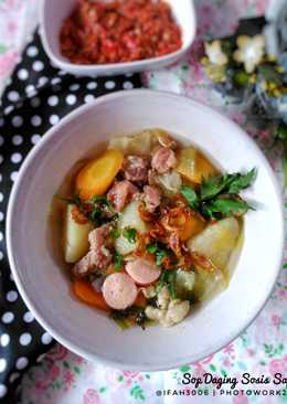 Sup Daging Sosis Sapi