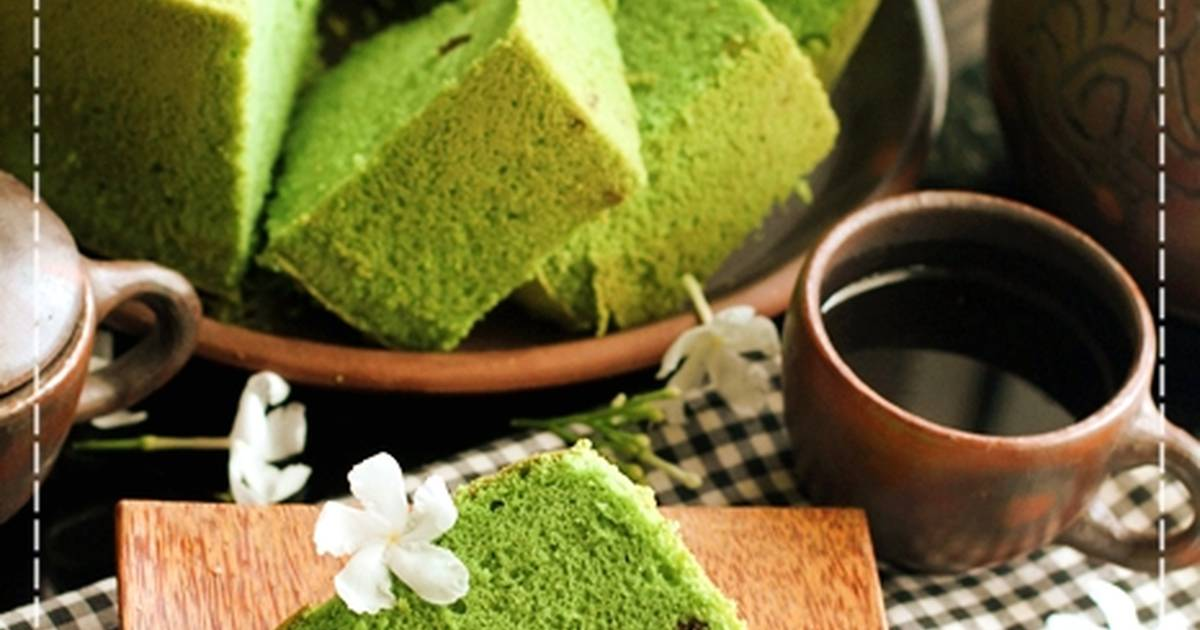 Resep Chiffon Green Tea Matcha soft and moist