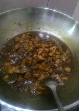 Chicken mushroom #ayam jamur ala toping mie ayam