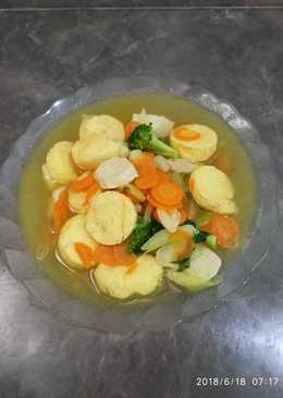 Tofu kuah sayur bakso #menu anak