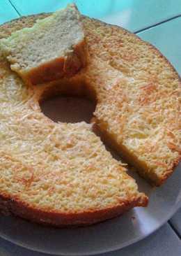 Bolu Pisang Keju Sederhana (kue bolu tanpa pengembang)