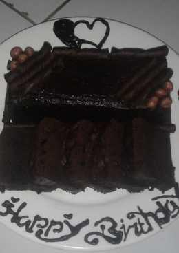 Kue ulang tahun dari brownies kukus