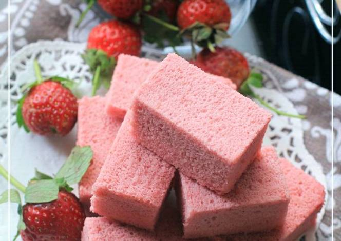 Resep Cake Lemon Tintin Rayner: Resep Ogura Cake Strawberry Yoghurt Cottony Cake With