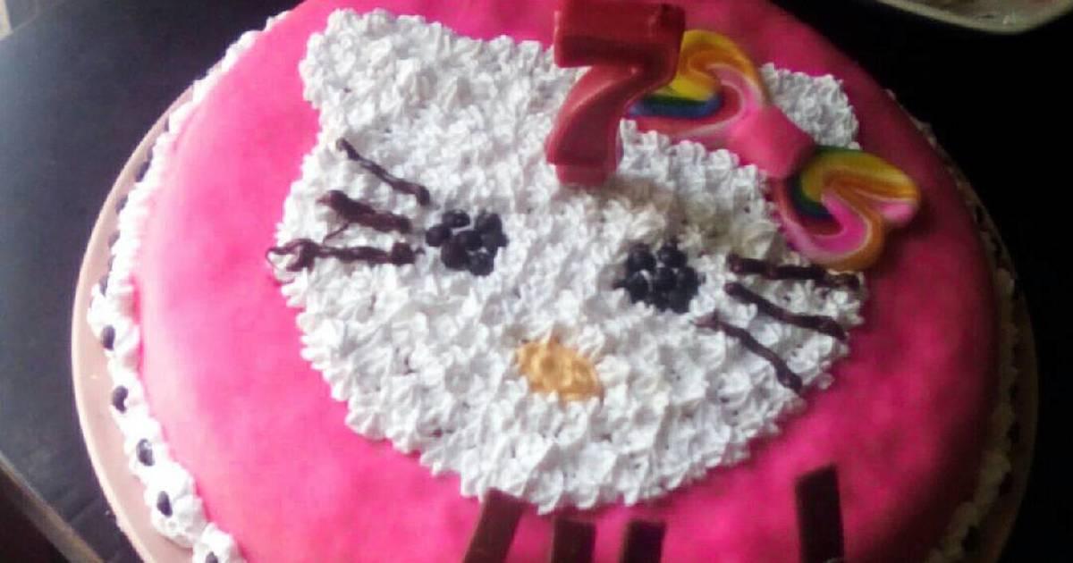 Cara Menghias Kue Ultah Hello Kitty 8 Resep Cookpad
