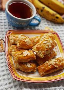 Pastry isi pisang coklat instan #RabuBaru