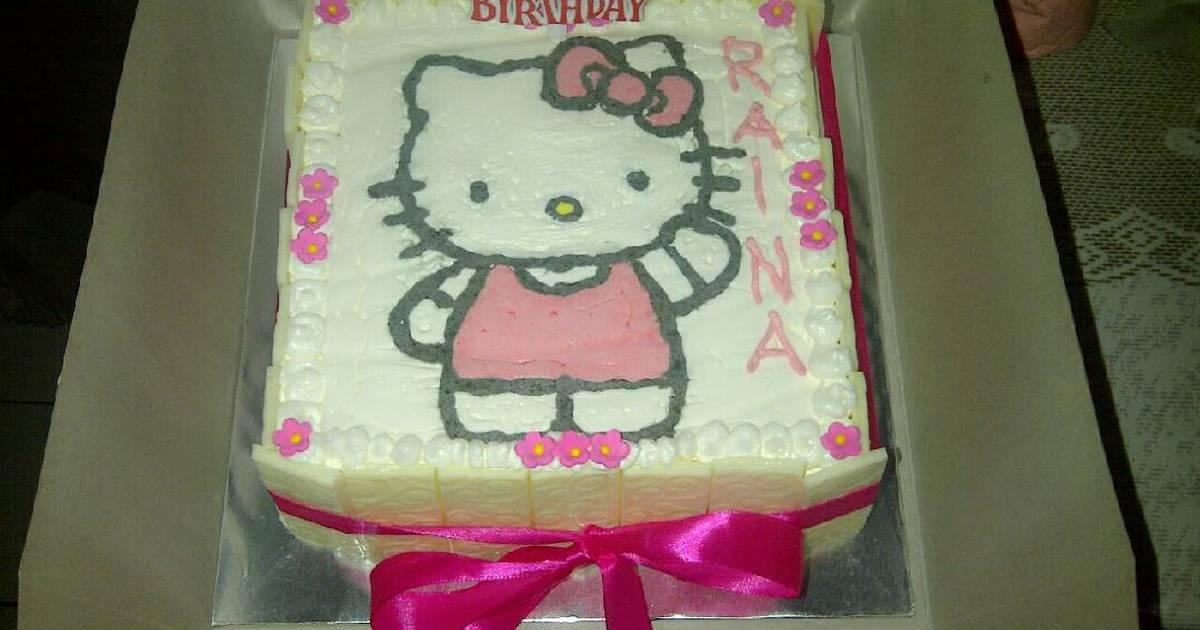 28 Resep Cake Karakter Hello Kitty Enak Dan Sederhana Cookpad