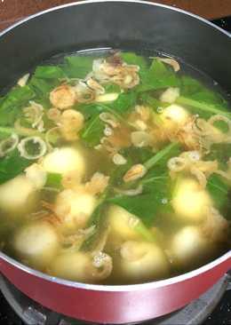 Sup bakso sayur sawi