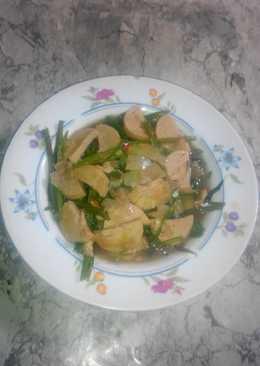 Tumis Kangkung Dg Bawang Bombay n Sosis Ikan Tuna