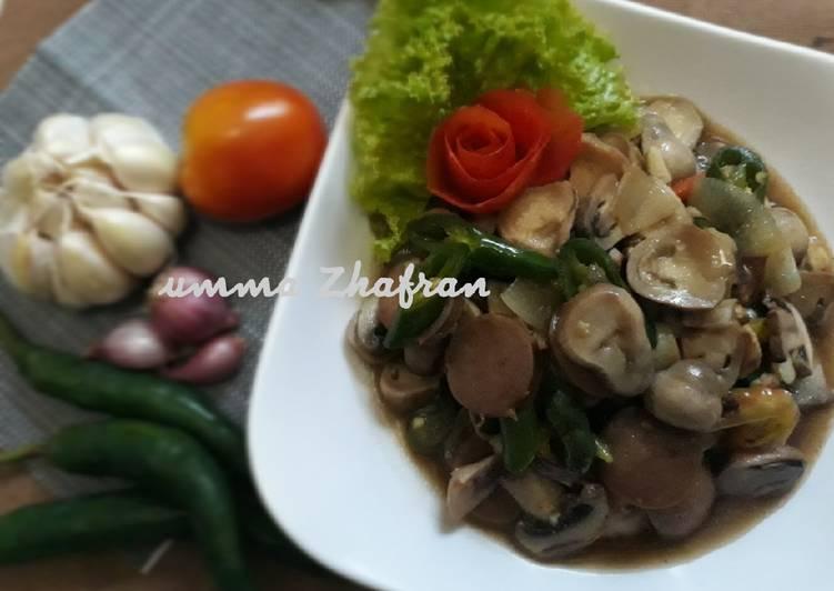 Resep Ca jamur merang saus tiram ?? Oleh Umma Zhafran