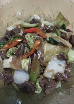 Tumis daging dan sayur saus teryaki