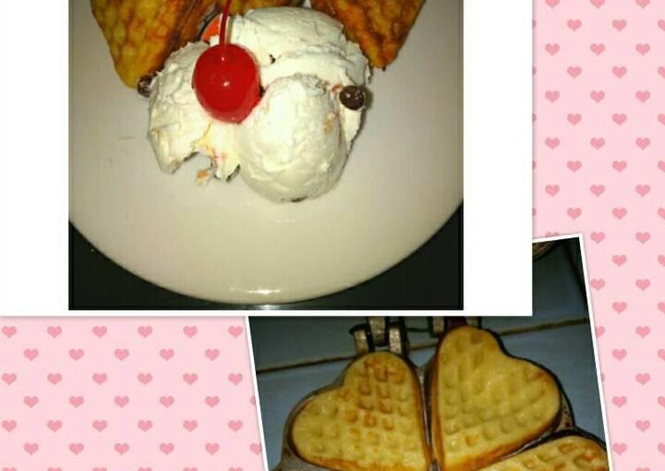 Resep Waffel es cream vanila oleh Dapur Bunda Adam Resep Waffel es cream vanila Oleh Dapur Bunda Adam