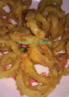 Onion ring sederhana no telur
