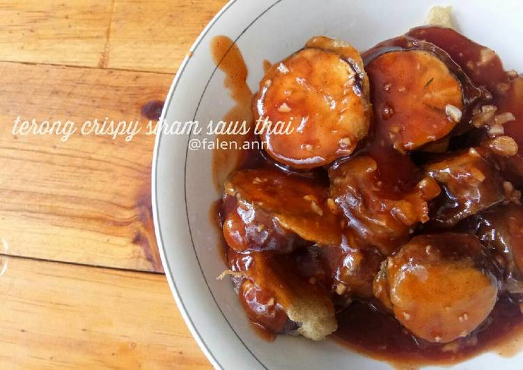 Terong crispy siram saus thai
