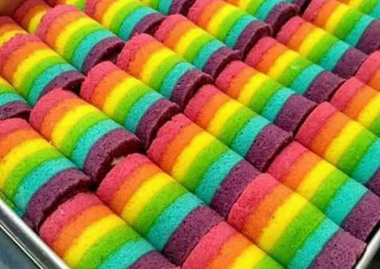Resep Mini Rainbow Roll Cake Oleh Nita Niniet Cookpad