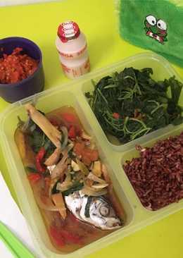 Ikan mas kukus siram bumbu rempah(diet hari 1)